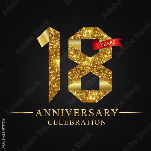 Photographie anniversary, aniversary, 18 years anniversary celebration logotype