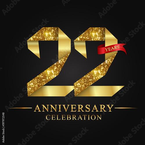 anniversary, aniversary, 22 years anniversary celebration logotype Wallpaper Mural