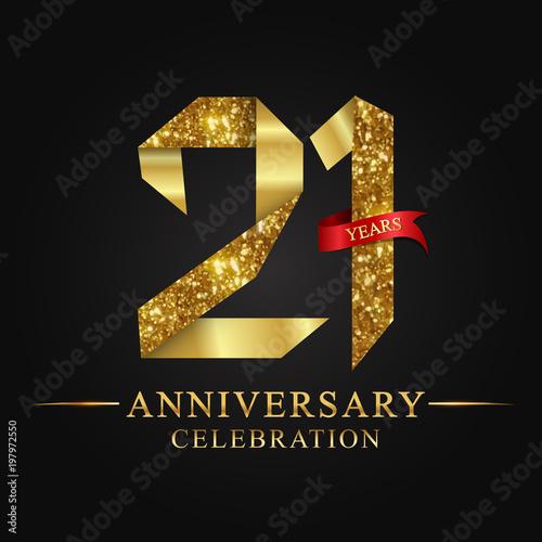 Tela anniversary, aniversary, 21 years anniversary celebration logotype