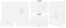 Document Folder Package Die-cut Mockup Template