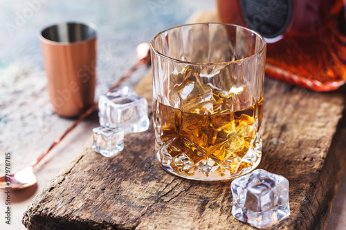 Glass of scotch whiskey Canvas Print