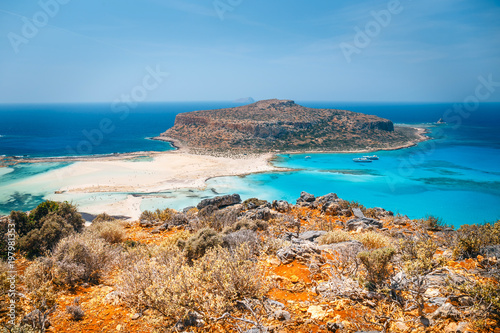 Foto op Canvas Cyprus Fantastic view of Balos Lagoon and Gramvousa island on Crete, Greece.