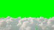 Leinwanddruck Bild - Flight over the clouds. isolate. 3d rendering.