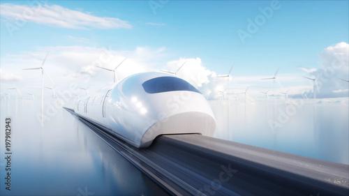 Fotografía  speedly Futuristic monorail train
