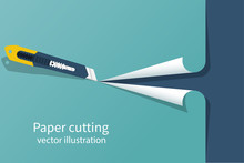 Paper Cutting. Stationery Offi...