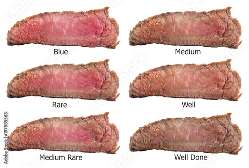 In de dag Steakhouse Raw beef steak, a piece of meat isolated on white background