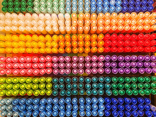 Colorful Pens On Shelf Of Stat...