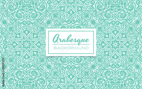 Beautiful decorative background in arabesque style Wallpaper Mural