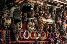 African Masks On The Market In...