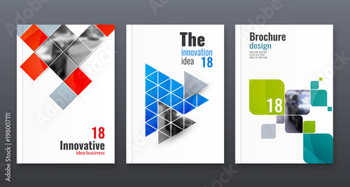 Fotografía  Abstract flyer design background. Brochure template.