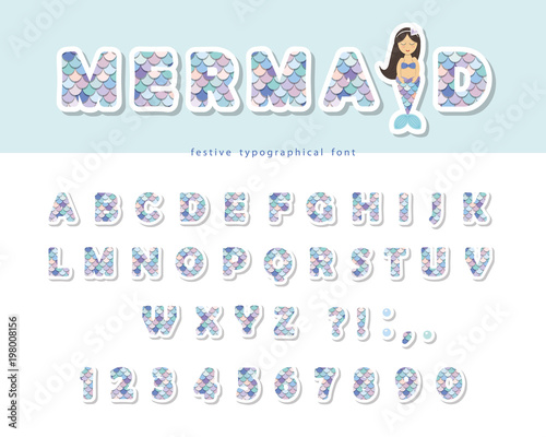 Photographie  Mermaid scale font