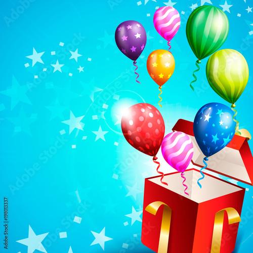 Fototapeta Birthday Invitation Card Birthday Background