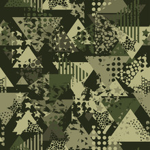 Abstract Camouflage Seamless P...