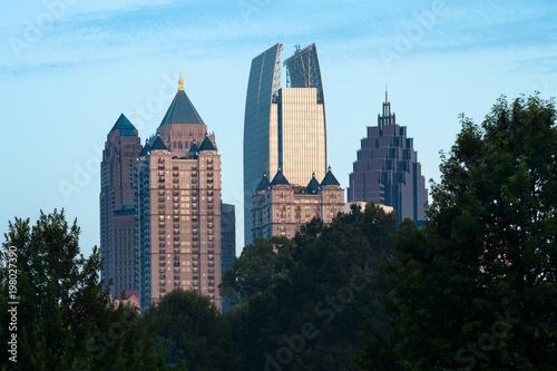 Plakat Midtown skyline od Piedmont Park, Atlanta, Georgia, USA