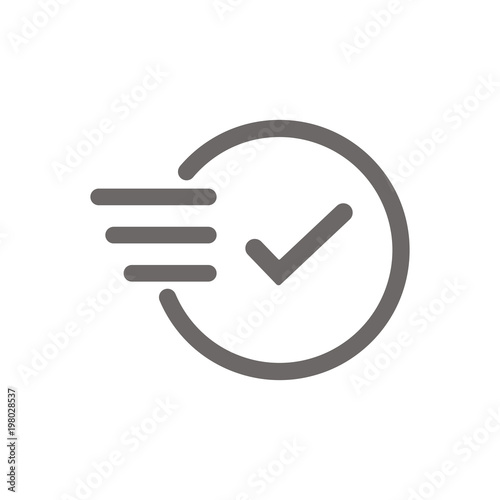Time icon. Fast time vector icon. Deadline icon. Gray clock icon