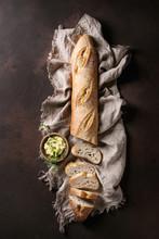 Loaf Of Sliced Fresh Baked Art...