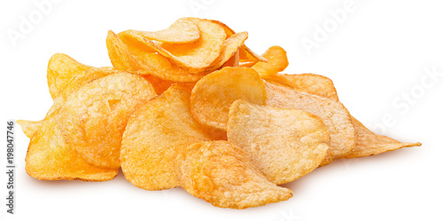 Fotomural Potato chips pile