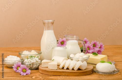 Plakat produkty mleczne