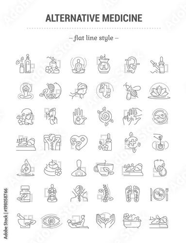 Vector graphic set Canvas Print