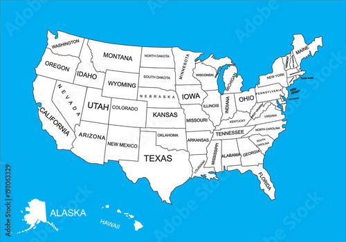 Editable Blank Vector Map Of United States Vector Map Of United - Us-map-separated-by-region