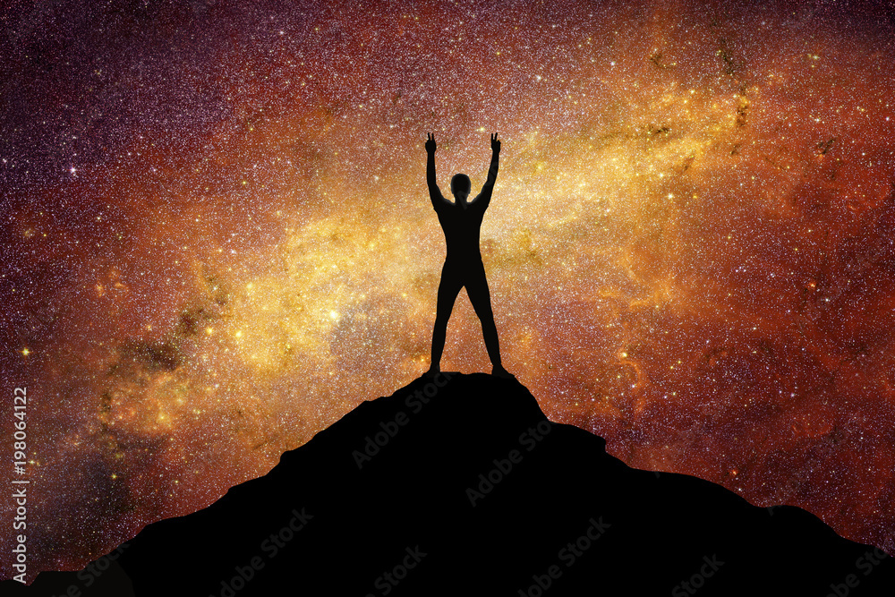 Fototapety, obrazy: Man reaches the top