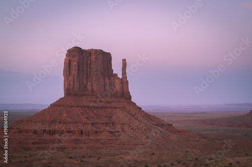 Fotografía  Monument Valley, desert canyon in USA at blue hour