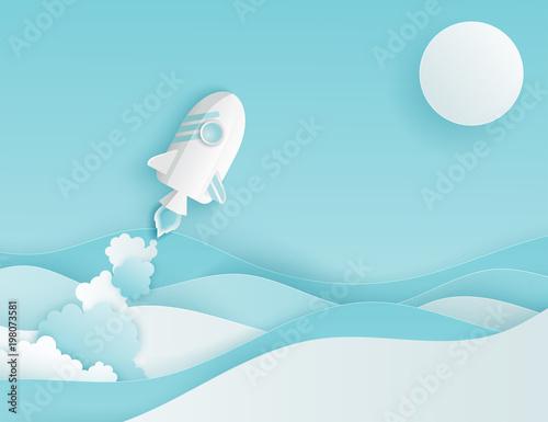 papierowa-sztuka-promu-kosmicznego-wystrzeliwuje-w-niebo-blekitne-niebo-slonce-papierowe-fale-start-rakiety-rozpocznij-koncepcje-biznesowa-i-pomysl-eksploracji