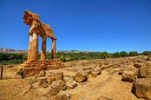 Valley Of Temples Agrigento, Italy, Sicily August 18 2015. The Valley Of The Temples Of Agrigento, UNESCO Heritage.
