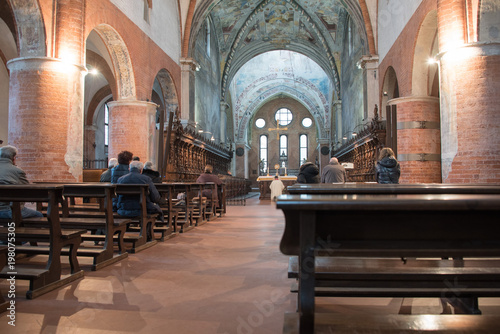 complesso monastico (Abbazzia) di Chiaravalle, Milano, interno Canvas Print