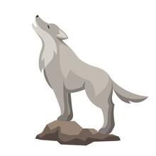 Stylized Illustration Of Wolf....