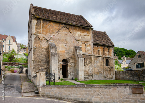Anglo-Saxon St Laurences Church in Bradford-on-Avon Wiltshire Southwest England Canvas Print