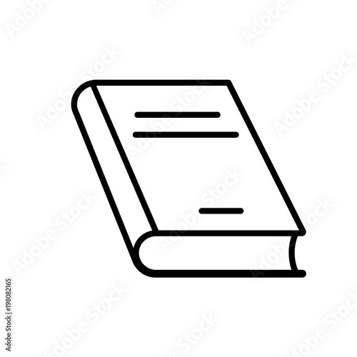 Fotografering  Closed book line icon. Thick hardcover book. Vector Illustration