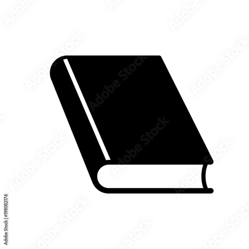 Fotografering  Closed book icon. Thick hardcover book. Vector Illustration