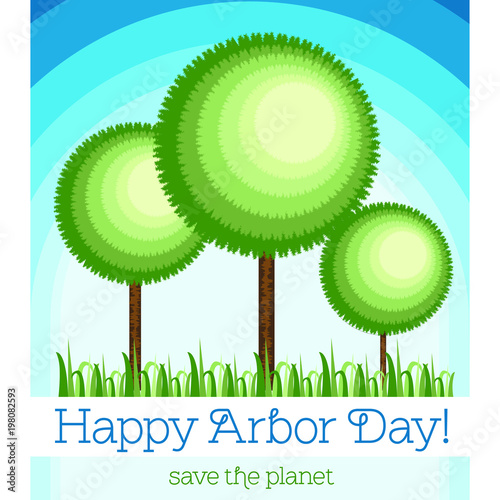 Canvas Print Postcard, poster or banner for the Arbor Day