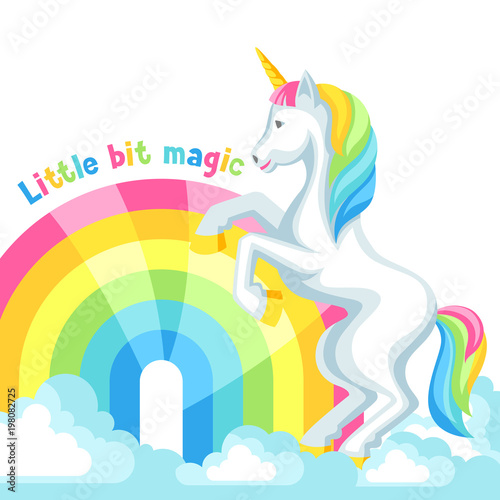 Poster Pony Print or card with unicorn and fantasy items