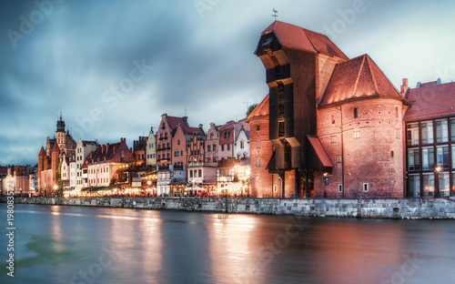 City on the water Gdansk view of the old town