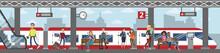 Railway Station Illustration.