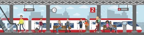 Fotografie, Obraz  Railway station illustration.