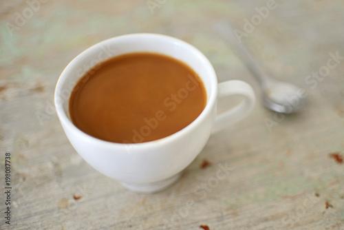Foto op Plexiglas Chocolade Coffee on an old table.