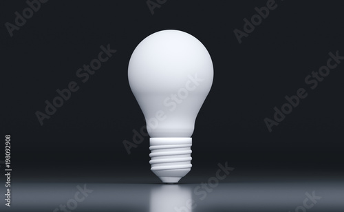 Photo  3D Rendering Of Realistic Classic Light Bulb On Black Background