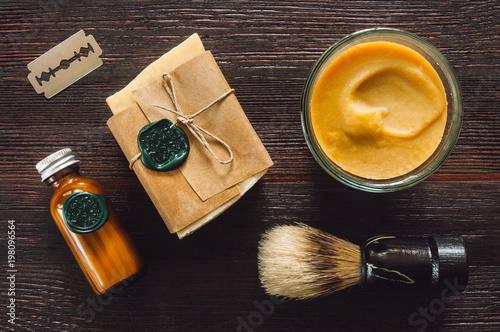 Men's Shaving Tools Canvas Print