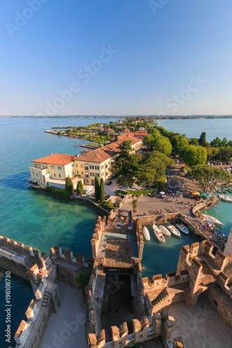 Poster Cote Sirmione, Italy seen from scaliger castle