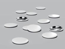 Button Badges. 3d Rendering