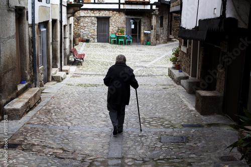 Photo Anciana con bastón