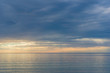 Gentle colors of sea on sunset