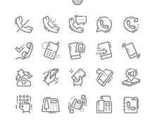 Phones Well-crafted Pixel Perfect Vector Thin Line Icons 30 2x Grid For Web Graphics And Apps. Simple Minimal Pictogram