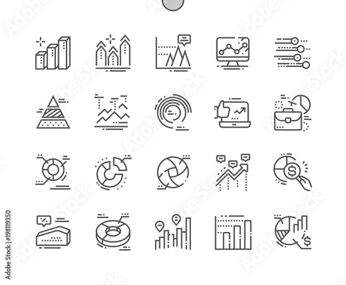 Fotografía  Charts Well-crafted Pixel Perfect Vector Thin Line Icons 30 2x Grid for Web Graphics and Apps
