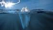 Leinwandbild Motiv Eisberg im Meer