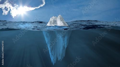 Fotografía  Eisberg im Meer