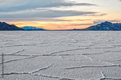 Aluminium Prints Dark grey Bonneville Salt Flats